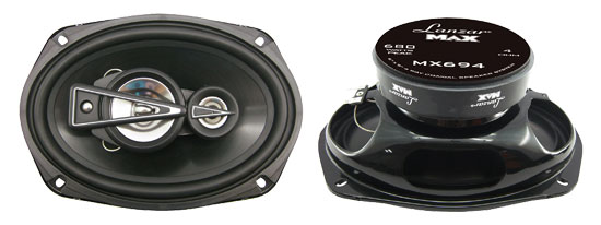 "Lanzar MAX 6x9"" Inch Oval 680w Coaxial Four Way Pair Of Car Door Shelf Speakers"