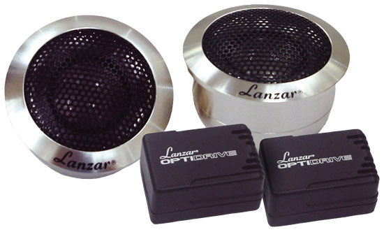 Lanzar Titanium Dome 200w Car Dash Door Tweeters Flush Mount Speakers Pair