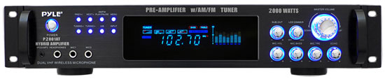 Pyle P2001AT 2000W Hybrid Pre Amplifier with AM/FM Tuner