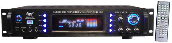 Pyle P3201ATU 3000w Hybrid AM FM Tuner USB Stereo Home Hi-Fi Amp Amplifier