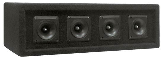 Pyle PAHT4 300w 4 Way DJ PA Party Disco Tweeters Passive Speaker Cabinet
