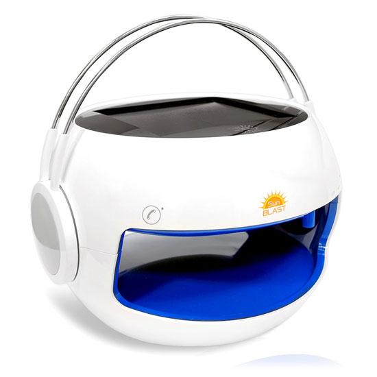 Pyle PBTSN50 SunBlast Portable Bluetooth Solar Power Speaker Hands-Free Call
