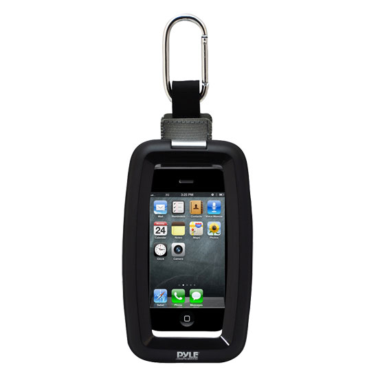 Pyle PCIC45 Sports Heavy Duty Iphone Case With Carabineer Hook Action