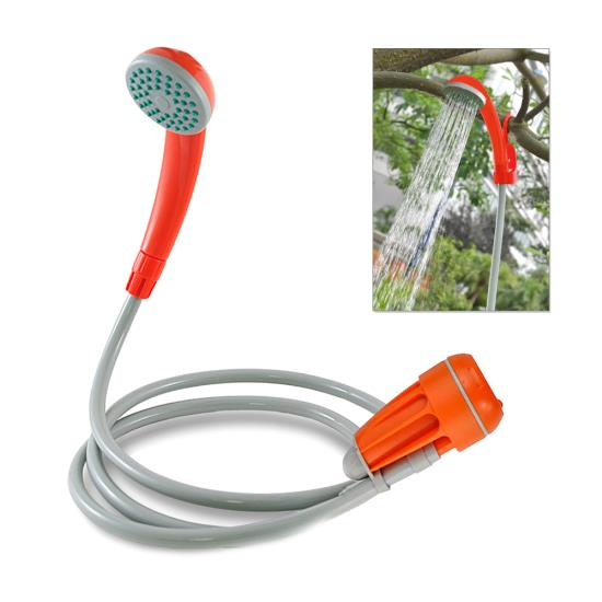 Portable 12v 6 Feet Handheld Hook Suction Cup Camping Hiking Shower Wash System
