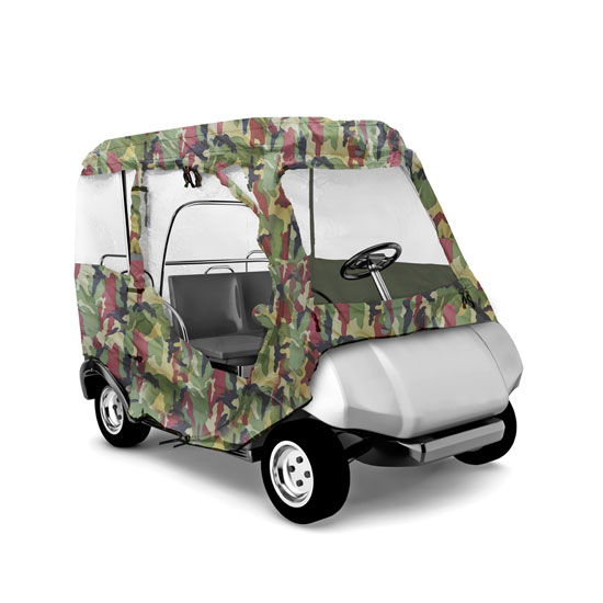 PYLE PCVGFYM71 YAMAHA DRIVE GOLF CART ENCLOSURE, CAMO