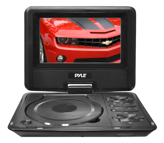Pyle PDH7 7'' Portable TFT LCD Monitor w/ Built-In DVD Player MP3/MP4/USB SD Slot