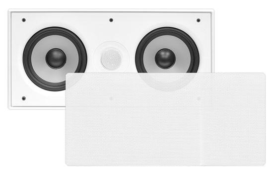 "In Wall Surround Sound Stereo Hi Fi Home Cinema Centre Speaker Twin 5.25"" 8ohm"