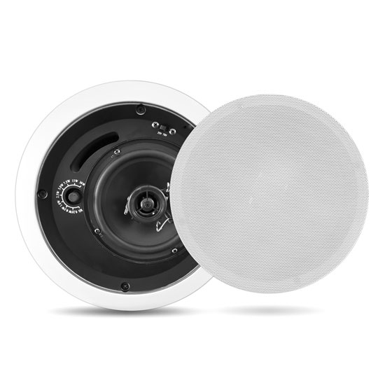 """6.5"""" Two Way In Ceiling 70v Line Speaker Home Audio Cinema Office PA System"""
