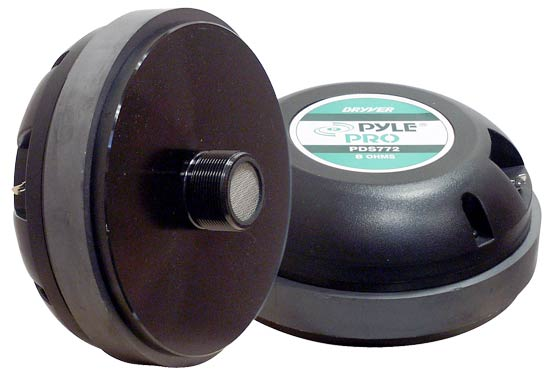 Pyle PDS772 Titanium Horn Screw On Type Compression Driver Tweeter 8 Ohm 600w