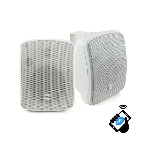 "Pyle Bluetooth Waterprooof Indoor Outdoor 5.25"" 135mm 600 Watt White Speakers"