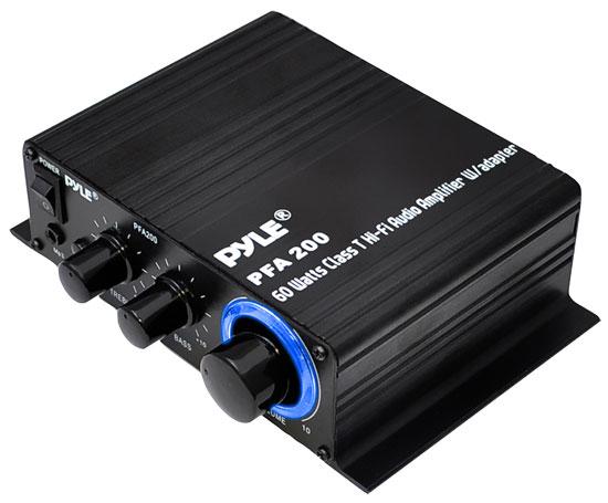 Pyle PFA200 60 Watt Class-T Hi-Fi Audio Amplifier with AC Adapter Included