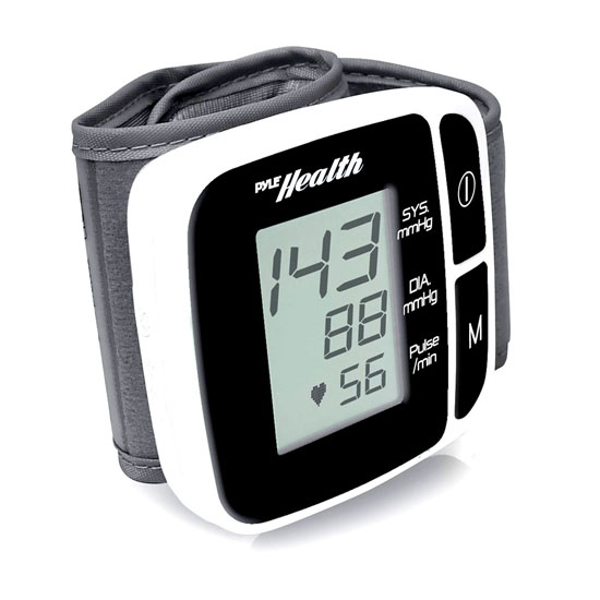 Pyle PHBPBW40BK Bluetooth Smart Blood Pressure Monitor Black