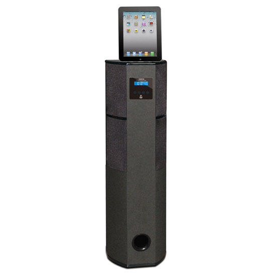 Pyle PHBT98PBK Bluetooth 600-Watt 2.1 Channel Home Theater Tower with 30-Pin iPod, iPhone and iPad Docking Station
