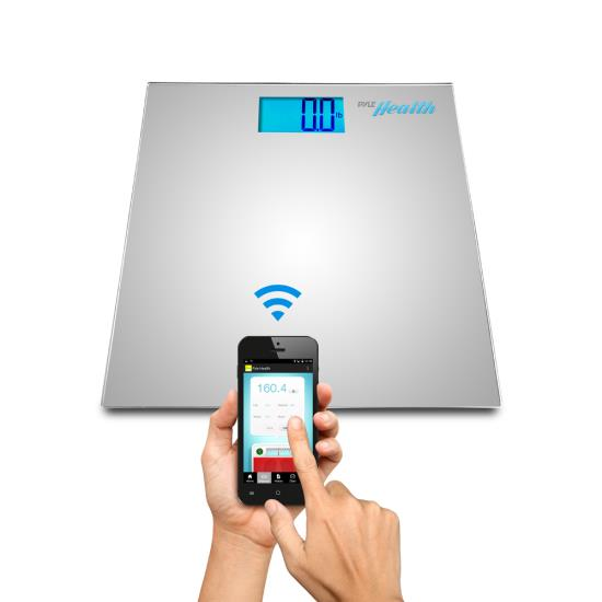 Pyle PHLSCBT2SL Bluetooth Digital Weight Scale Wireless Data Transfer + App