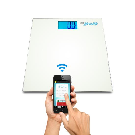Pyle PHLSCBT2WT Bluetooth Digital Weight Scale Wireless Data Transfer + App