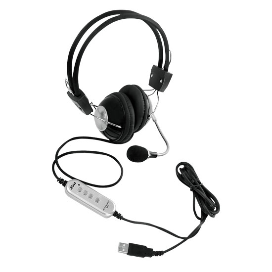 Pyle-Home PHPMCU10 Multimedia/Gaming USB Headset With Noise-Canceling Microphone