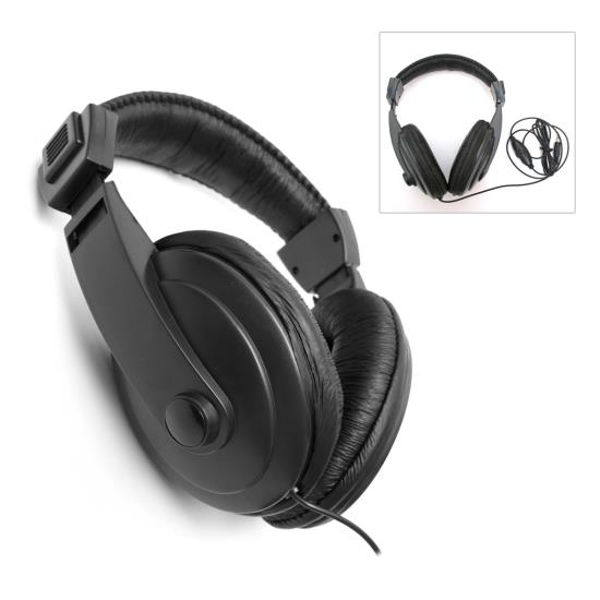 Pyle PHPMD23 Universal 3.5mm Metal Detector Over Ear Headphone Head Set
