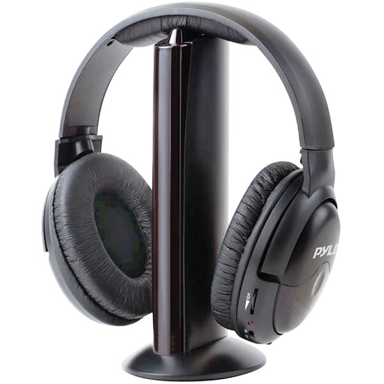 Pyle PHPW5 Professional 5 in 1 Wireless Headphone System with Built in Mic