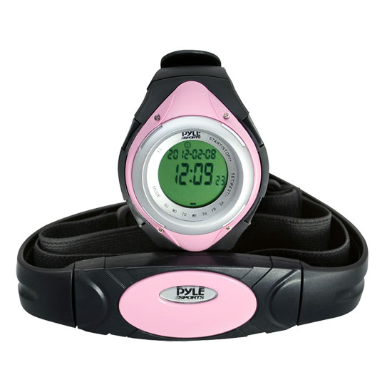 Pyle PHRM38PN Pink Heart Rate Monitor Watch W/Calorie Counter & Target Zones
