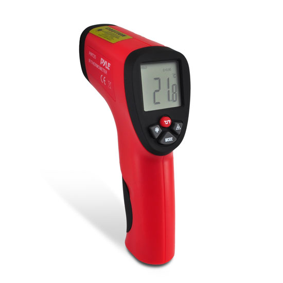 Pyle-Meters PIRT25 Compact Infrared Thermometer With Laser Targeting Handheld