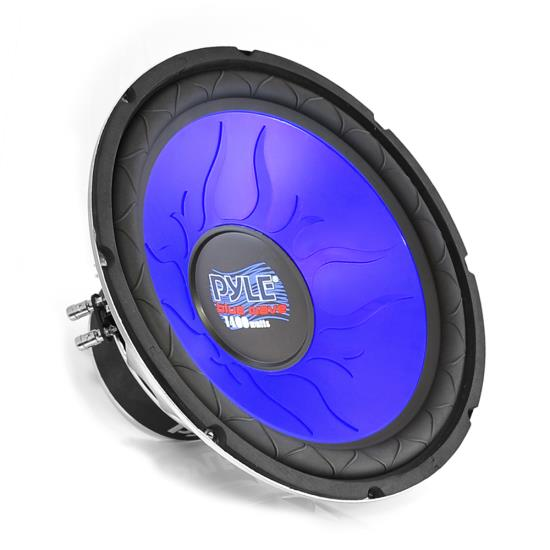"Pyle Blue 4 Ohm DVC 12"" Inch 1200w In Car Subwoofer Sub Bass Driver Woofer"