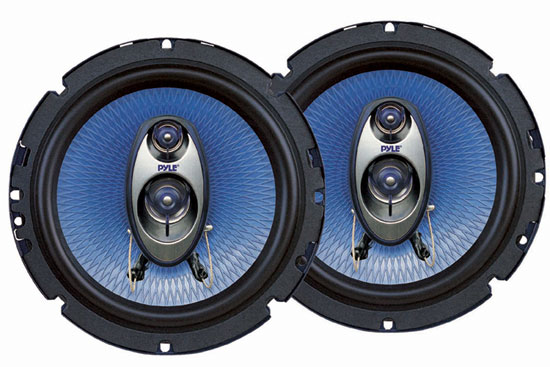 "Pyle PL63BL 6.5"" 16.5cm 17cm 360w Coaxial Three Way Pair Car Door Shelf Speakers"