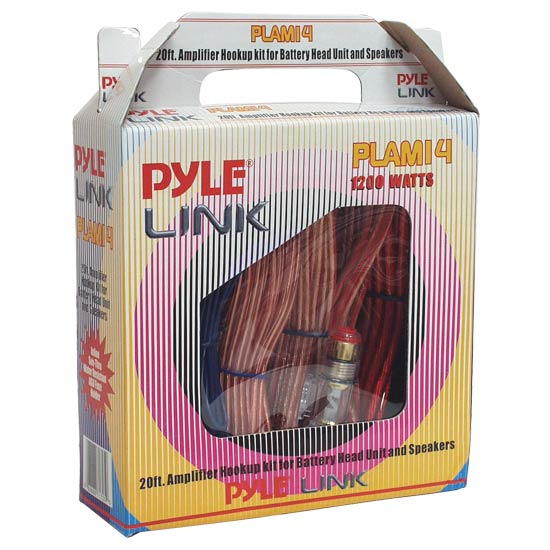 Pyle PLAM14 60A 8 Awg Gauge Complete Amplifier Power & Earth Wiring Kit 5m RCA