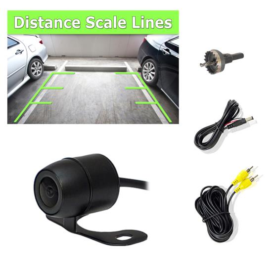 Pyle PLCM38FRV Vehicle From View & Rearview Backup Camera, Distance Scale Line