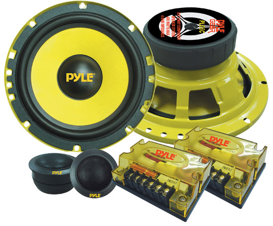 "Pyle PLG6C 6.5"" 400w 2-Way Custom Component Kit Set Car Door Speakers System"