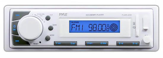 Pyle PLMR20W Marine In-Dash AM/FM Radio MP3 & USB SD AUX iPod Input Receiver