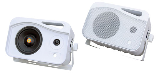 Pyle PLMR26 Marine Outdoor 500W Weather Proof Mini Box Speakers System Pair Of