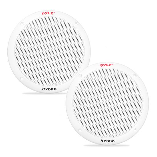 Pyle PLMR605W 6 1/2'' Dual Cone Marine Speakers (White)