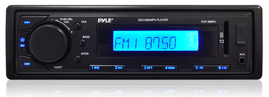 New Pyle PLR26MPU In Dash AM/FM Radio USB AUX Input for iPod/MP3 SD Receiver