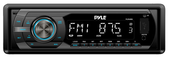 Pyle PLR44MU In-Dash AM/FM-MPX Detachable Face Receiver with MP3 Playback & USB/SD/Aux Inputs