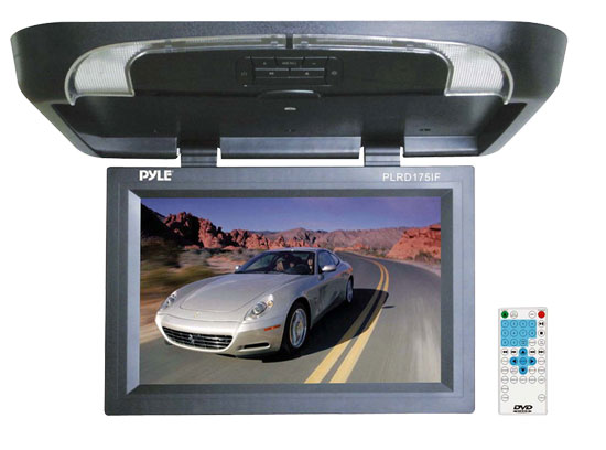Pyle PLRD175IF 17 inch Flip Down Monitor with Built in DVD/ SD/ USB Player