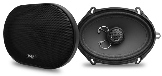 Pyle PLSL5702 5'' x 7'' 6'' x 8'' 180w Slim Mount Two-Way Coaxial Speakers