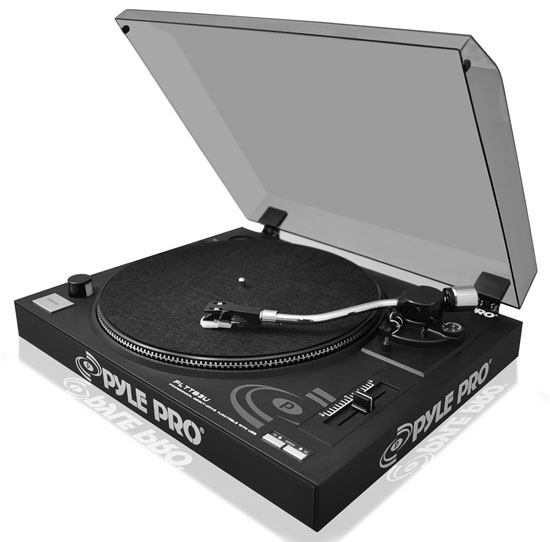 Pyle PLTTB3U Belt Drive USB Turntable With Recording & Digital Software