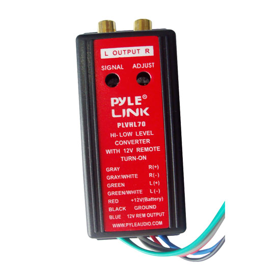 Pyle PLVHL70 2-Channel HI Level To Low Level Converter with 12V Remote Turn-On