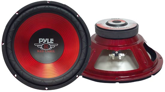 Pyle PLW12RD Red 12-Inch 30cm 800w Car Audio Bass Subwoofer Sub Woofer SQ