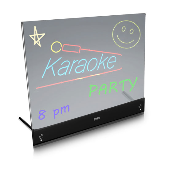 PLWB2030 Erasable Desktop Illuminated LED Writing Board w/ Remote With 8 Markers