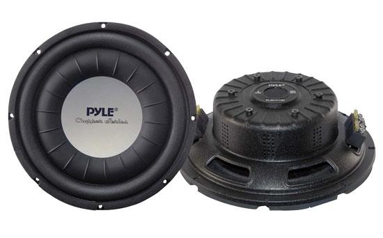 Pyle PLWCH10D 10 inch 1000W Ultra Slim DVC Car Van Truck Subwoofer Sub