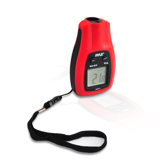 Pyle-Meters PMIR15 Mini Infrared Thermometer with Laser Pointer Gun Handheld