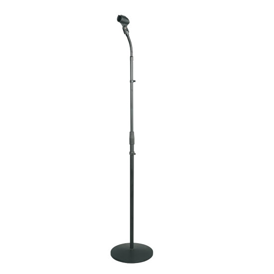 PylePro PMKS32 Universal Compact Base Microphone Stand with Adjustable and Pivotable Gooseneck