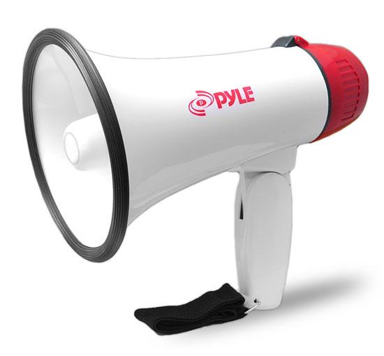 Pyle Pro Megaphone & Strap Mega Phone 20w Pistol Grip Loud Speaker And Siren NEW