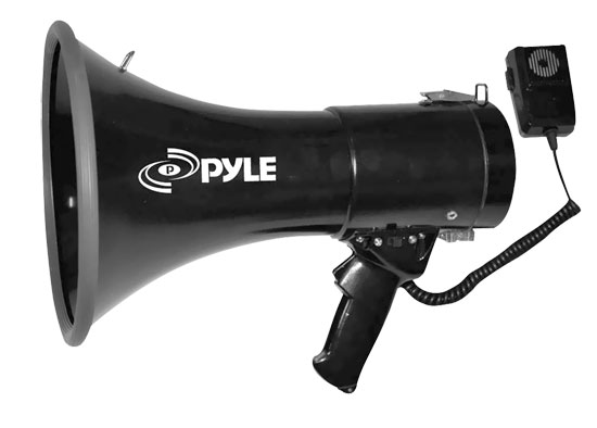 Pyle-Pro PMP53IN 3.5mm Aux-in 50w Megaphone Bullhorn Loud Hailer With Siren