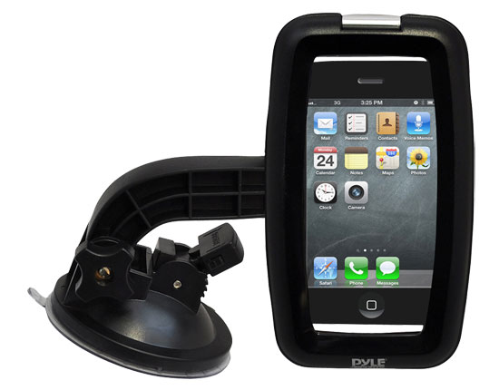 Pyle-SPORT PSIC55 Armoured Suction Cup Mount Mobile Phone Bracket For Smartphone