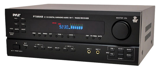 Pyle-Home PT588AB 5.1 Channel Home Receiver with AM FM, HDMI and Bluetooth