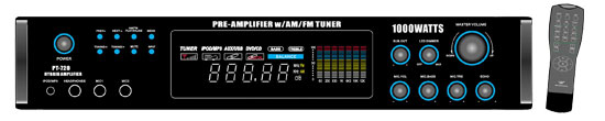 Pyle-Home PT720A 1000 Watts AM/FM/ Tuner Hybrid Amplifier W/ 70V Output