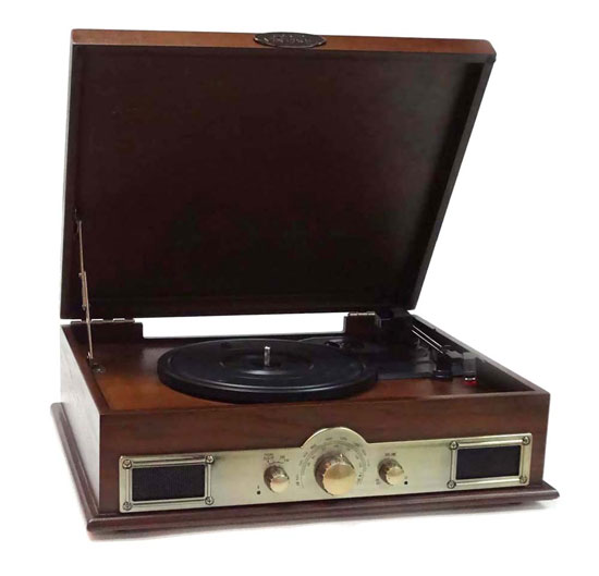 PYLE-HOME PTT30WD CLASSICAL TURNTABLE WITH AM/FM RADIO