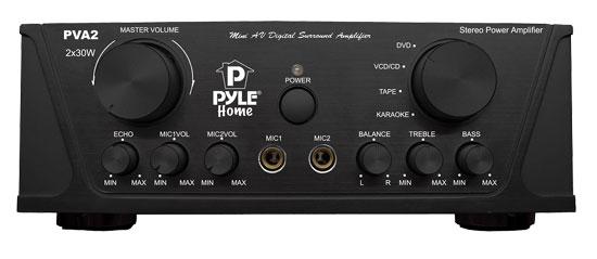 Pyle PVA2 60w Stereo Hi-Fi Mini iPod Amp Amplifier Witb Mic Microphone Input
